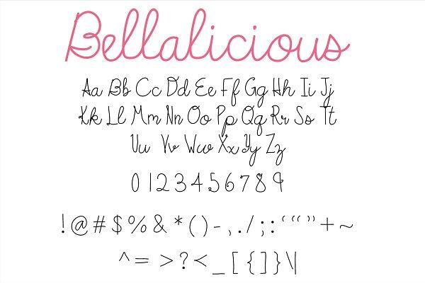 Best Bellalicious Font Vector