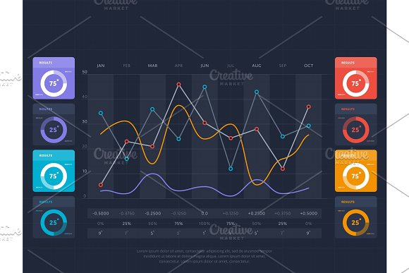 Business Infographics Concept With Online Index