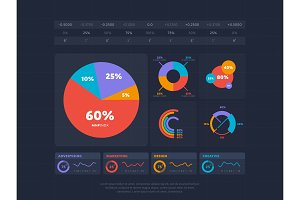 Business infographics concept with four index