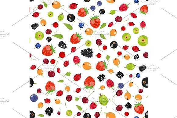 Fresh Berry Fruit Seamless Pattern