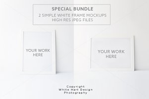 BUNDLE 2 Frames mock ups - Psd+Jpeg