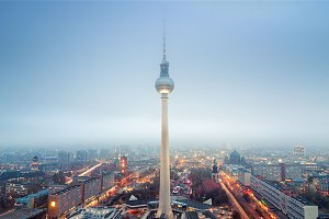 Panoramic view over Berlin
