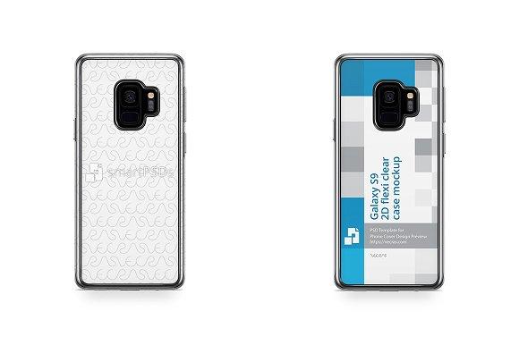 Galaxy S9 2d Flexi Clear Case Mockup
