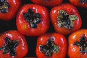 Fresh persimon fruits