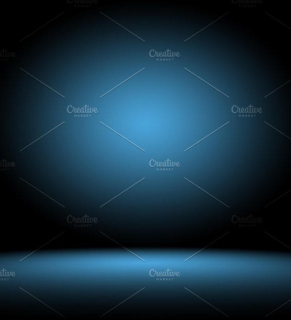 Abstract Smooth Dark Blue With Black Vignette Studio Well Use As