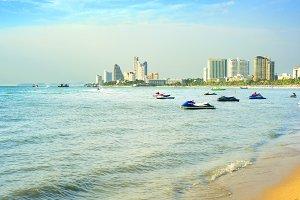Beach in Pattaya, Thailand
