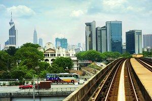 Kuala Lumpur railway, Malaysia