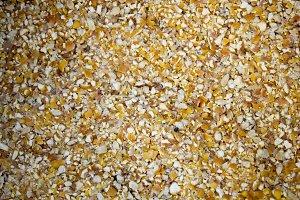 Corn bran, grind corn, fodder
