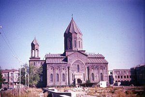Retro photo of the Armenian church