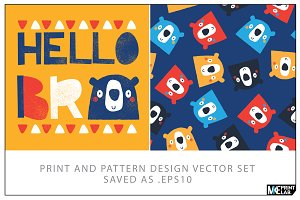 PRINT AND PATTERN VECTOR DESIGN