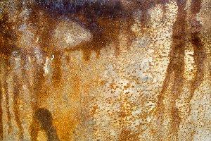 Rust on a metal sheet, rusty