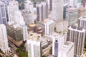 Kuala Lumpur business centre view