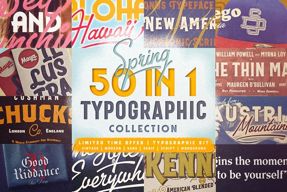 50 In 1 Typographic Collection