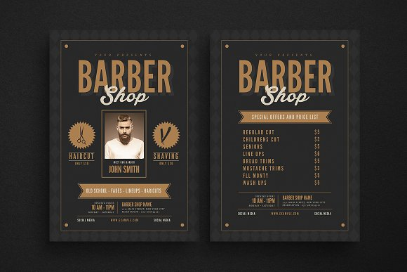 Hipster Barbershop Flyer