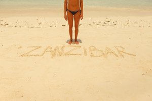 inscription on the sand zanzibar