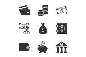 Finance black icon