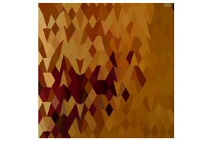 Autumn Leaves Abstract Low Polygon B