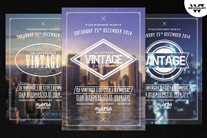Vintage Retro Flyer Template Vol.3