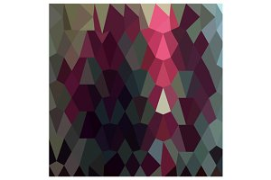Burgundy Abstract Low Polygon Backgr