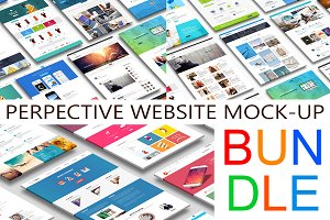 Pesrpective Website Mock-Up Bundle