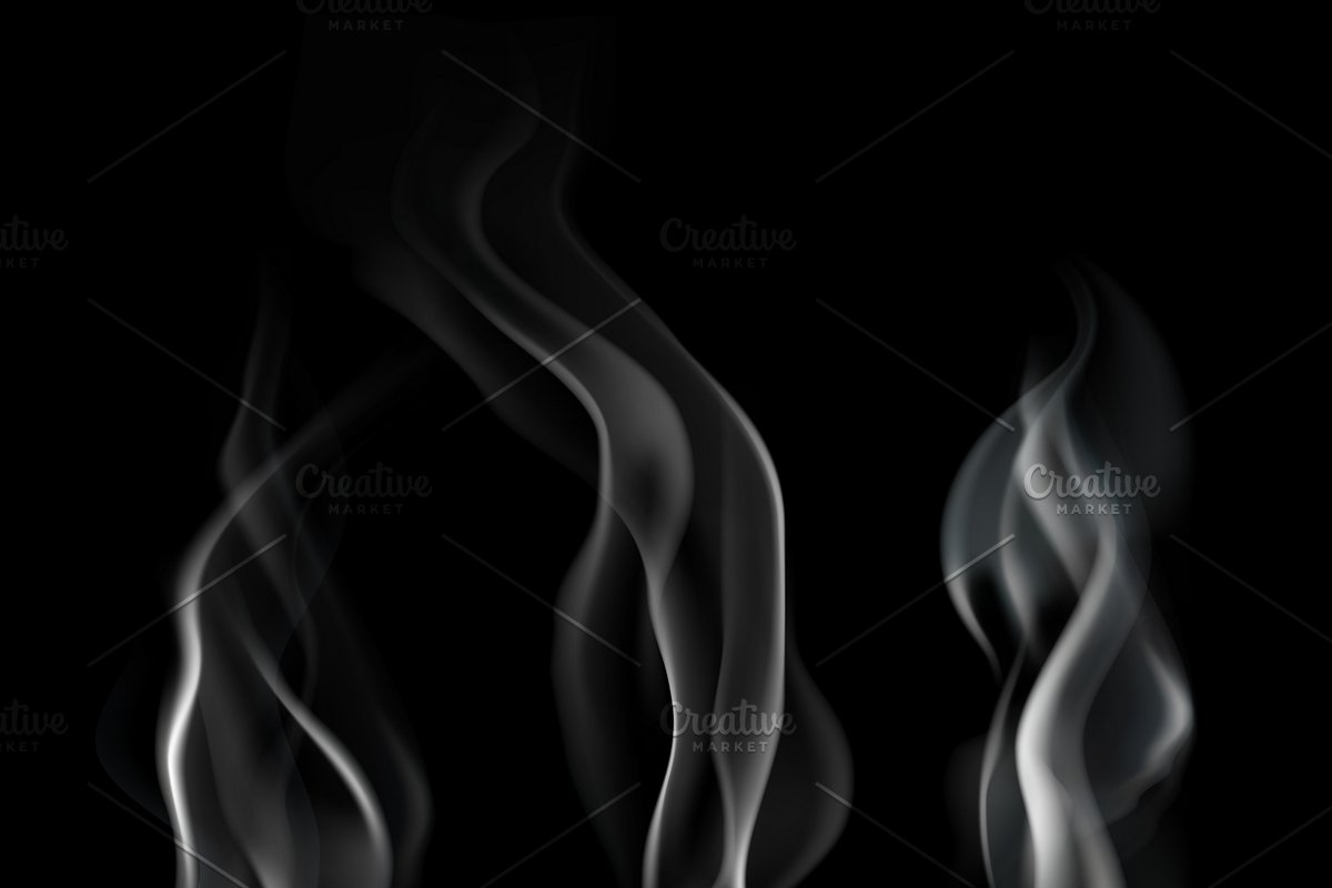 Realistic smoke flowing wave