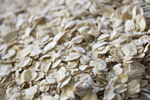 Oatmeal, porridge. Oat flakes.