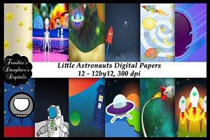 Little Astronauts Digital Papers