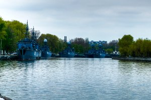 Patrol ships in Baltiysk
