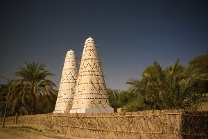 View to Pigeon tower, Siwa oasis, Egypt