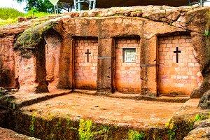 Biete Qeddus Mercoreus rock-hewn church, Lalibela, Ethiopia
