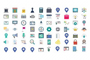 Digital Marketing Color Vector icons