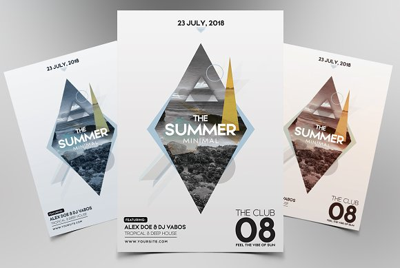 Summer Minimal PSD Flyer Template