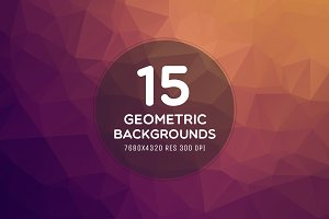 15 Ultra HD 8K Geometric Backgrounds