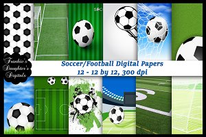 Soccer/Football Digital Papers