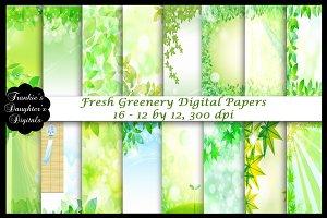 Fresh Greenery Digital Papers