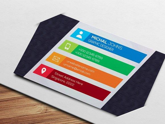 Multi-Color Business Card