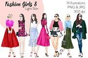 Fashion Girls 8 - Light Skin Clipart