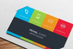Multi-Color Business Card