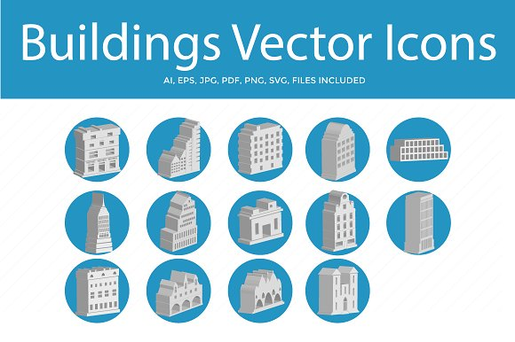 Buildings And Landmark Vector Icons