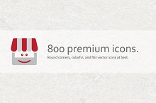 800 Premium Vector Icons