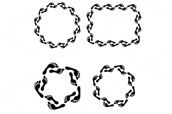 Circle Footprint Frames Set