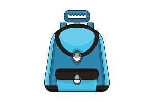 school bag color icon