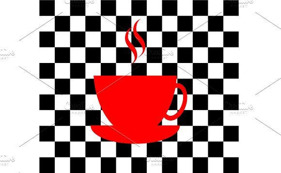 Red Cup Of Coffee Pop Art