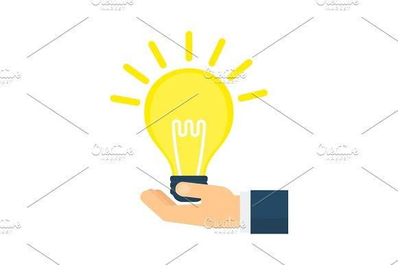 Idea Lamp In Hand