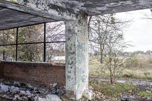 Abandoned building. Ruins