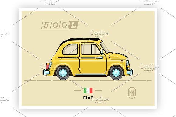 Retro Vector Fiat 500L