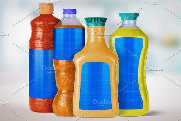 4 Juice Bottles