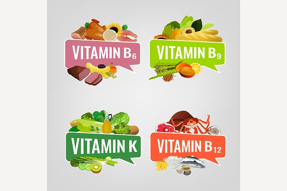 Vitamins Banners Set