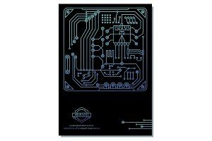 computer chip poster design