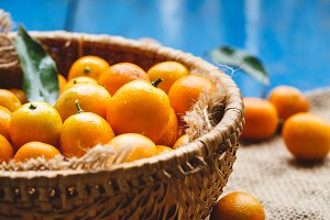 Fresh kumquat fruits